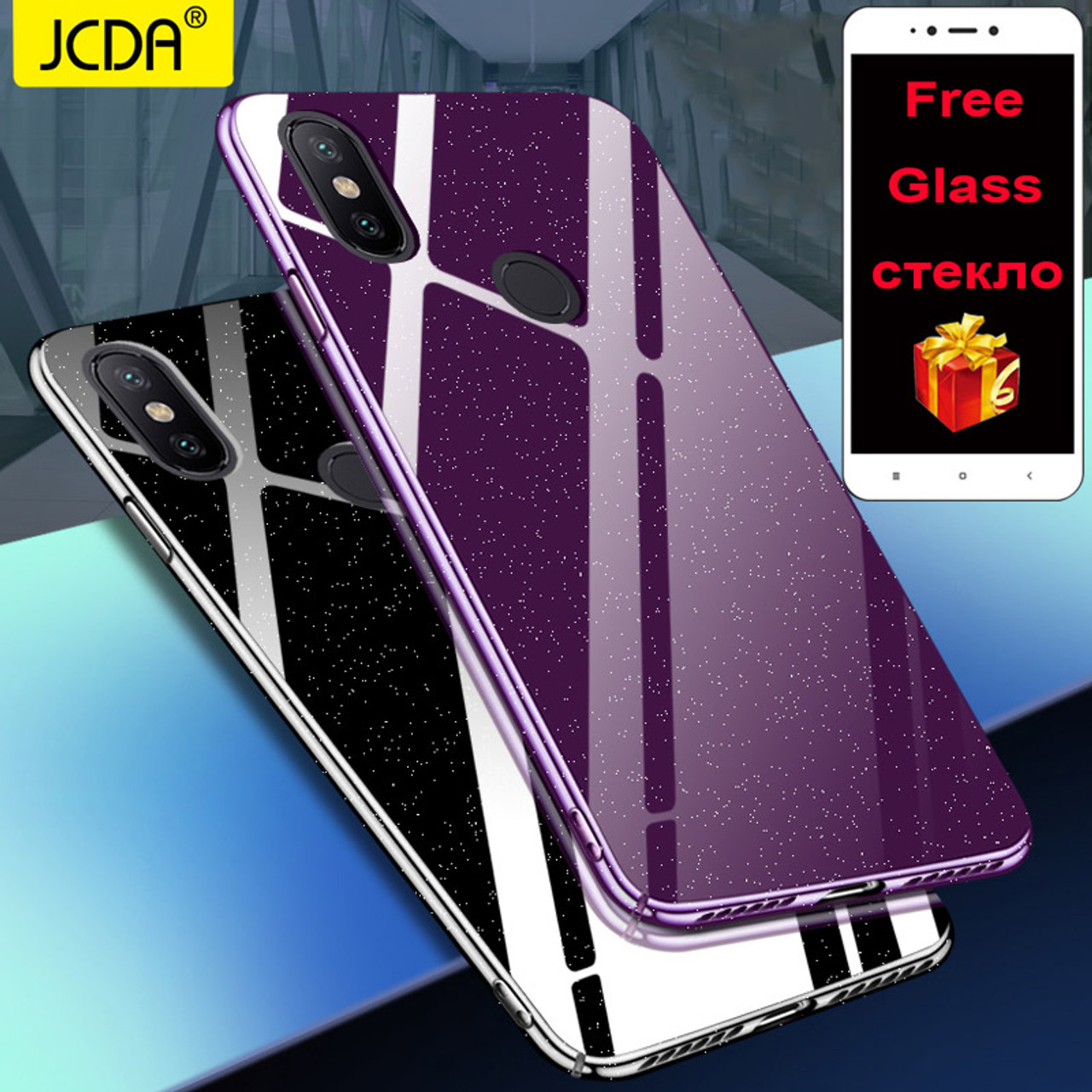 quality design 19356 b71ed Xiaomi Mi 8 SE case Cover Redmi 5 plus Case JCDA Crystal Back mi a1 a2  Cover redmi note 5a prime 4 4X 5S MIX 2S S2 6A 6 6x case