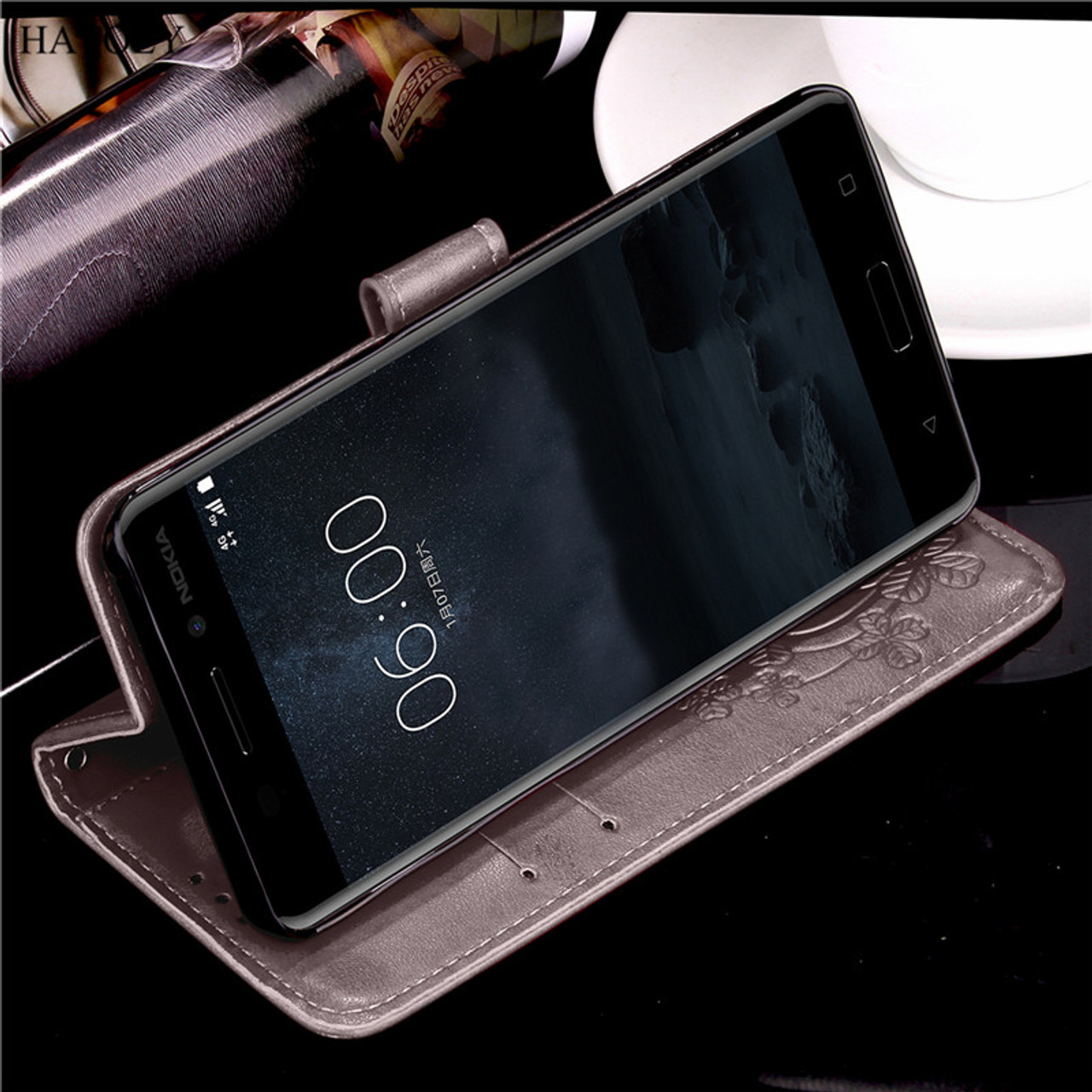 new style 05edd cf6ca HATOLY sFor Cover Nokia 6 2017 Cases Flip PU Leather & TPU Wallet Case For  Nokia 6 Cover For Nokia 6 2017 Fundas With Card Slot}