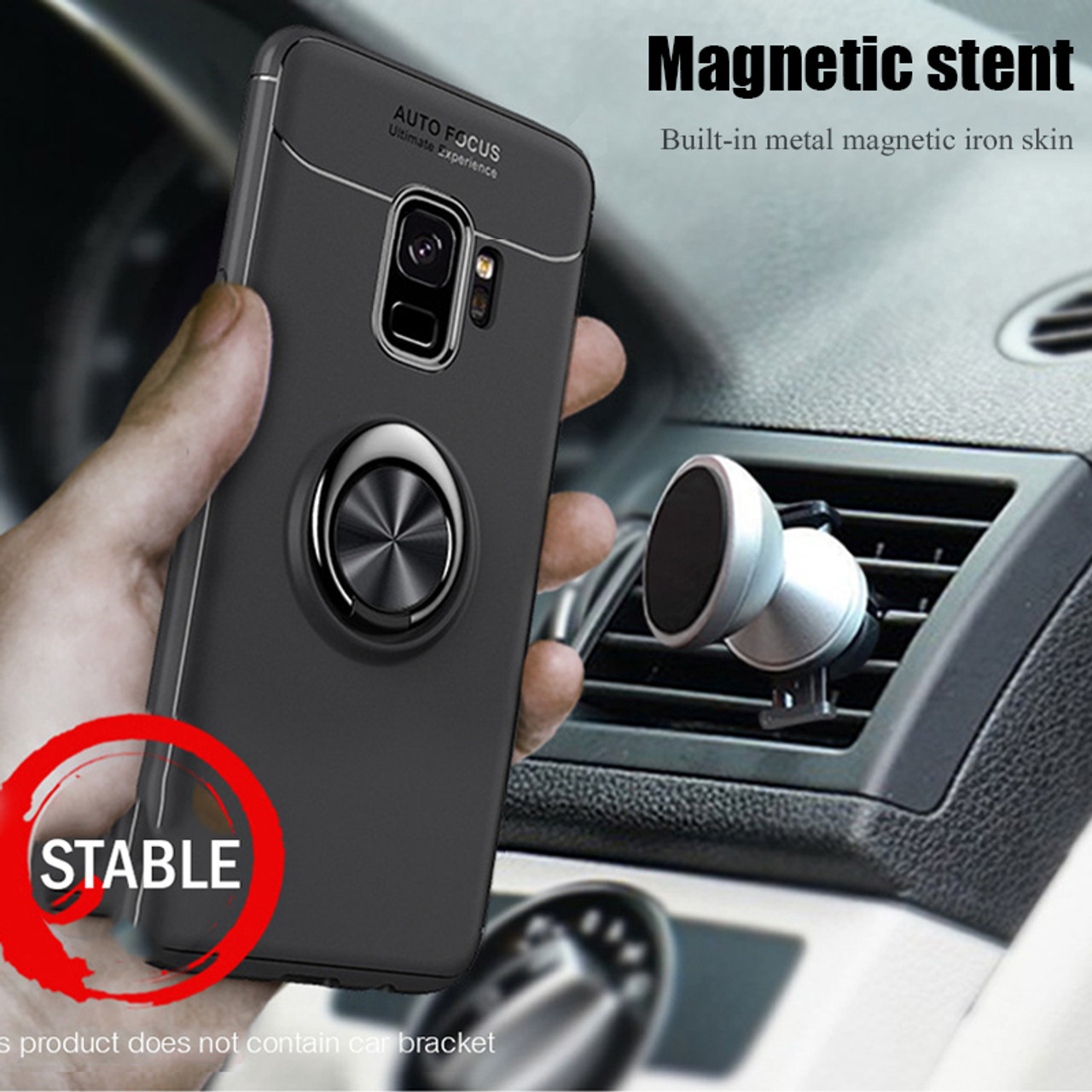 Luxury Shockproof Ring Holder Soft TPU Car Stand Phone Case For Samsung  Galaxy S9 S8 Plus Cover Case For Samsung Note 8 S8 Case