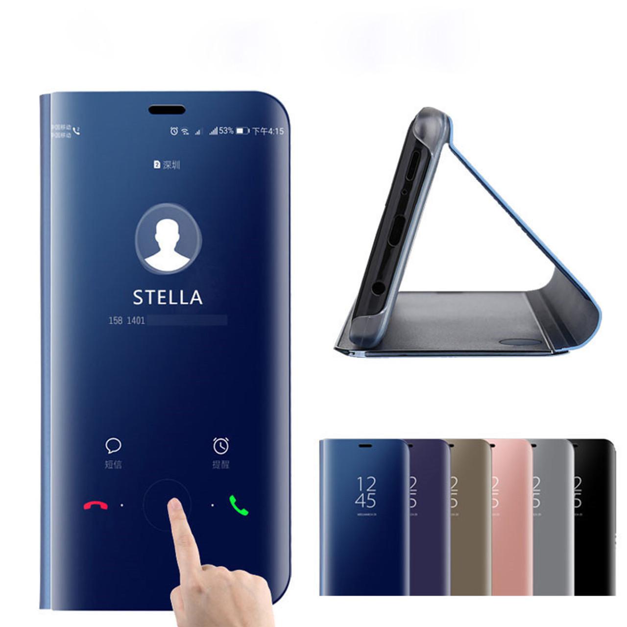 sale retailer 82957 aa376 Luxury Mirror Flip Leather Cover For Xiaomi Redmi Note 5 4 4X 5A Pro Redmi  5 Plus Mi Note 3 5X A1 6X Mix 2 Clear Smart View Case