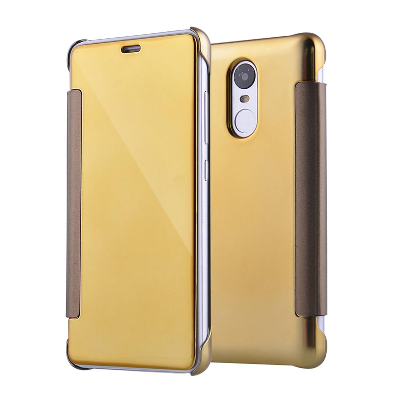 premium selection 19dda b7bf7 Flip Case For Xiaomi Redmi 4 pro prime Mirror Smart Clear View Phone Cover  For Xiaomi mi 5 mi 5S Redmi Note 3 Leather Flip Case