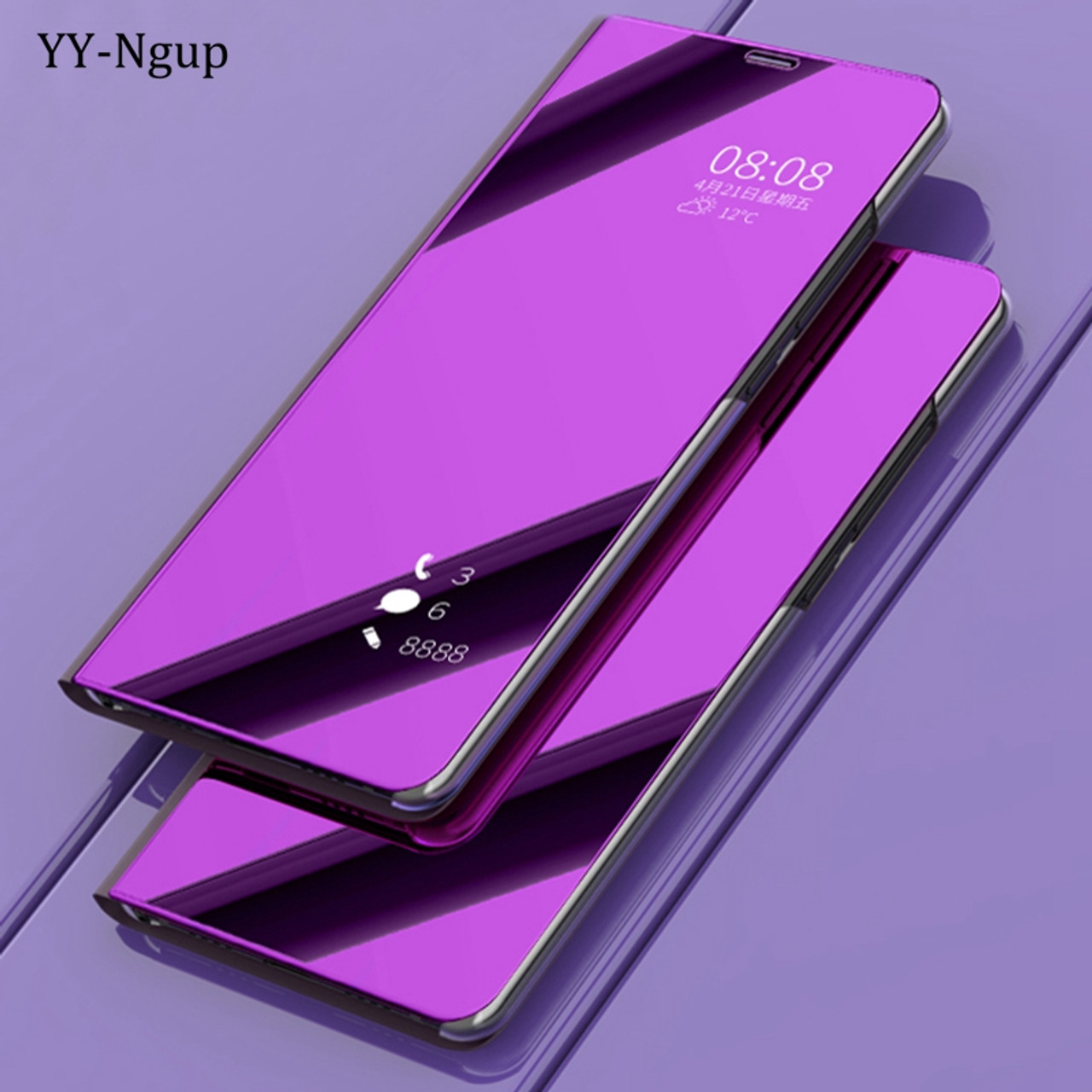 los angeles 75fcd 24a64 Coque for Samsung Galaxy A6 2018 Luxury Flip Mirror Phone Case on for  Samsung A6 Plus A6Plus 2018 Stand Holder Case Cover Etui