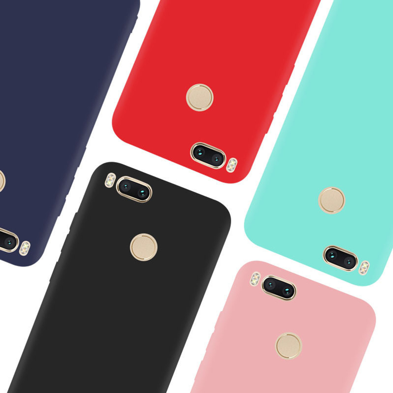 separation shoes 9b9d8 73860 JOEY-BELEZ Matte case For Xiaomi mi a1 case silicone protector cover TPU  case coque for xiaomi mi a1 mia1 mi5x Mobile Phone Bags