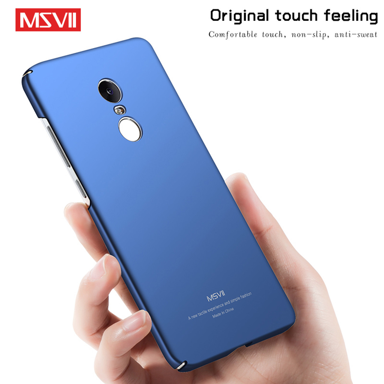 super popular 0e63c 654e3 MSVII For Xiaomi Redmi Note 4 Global Case For Xiaomi Redmi Note 4X Case  Ultra Thin Full Protection Frosted PC Hard Back Cover