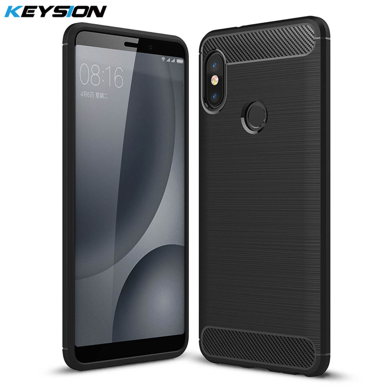 separation shoes cde4c 4957c KEYSION Case For Xiaomi Redmi Note 5 Pro 4 4X 3 Brushed Armor Shockproof  Soft TPU Cover for Xiaomi Mi 8 6 5 Mix 2 2s Mi A1 A2 6X