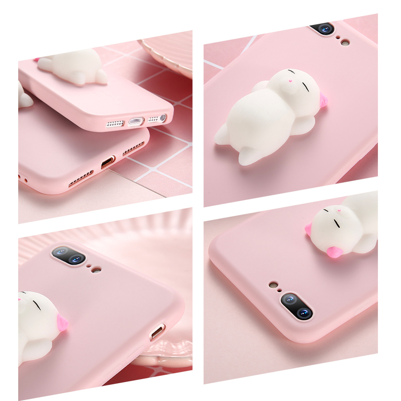 050eba2290 KISSCASE Cat Case For iPhone 7 6 6S Plus 5 5S SE Cases Lovely Cartoon Soft  ...
