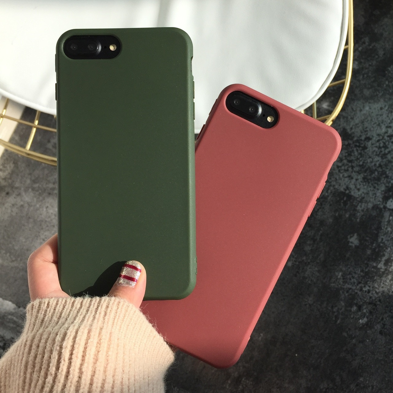 66bd2cb3d94 For iPhone X /8 /7 plus Case soft for iphone 8 back phone cover Case for Apple  iPhone 7/ 8plus/ 6 /6s plus TPU fundas army green - OnshopDeals.Com