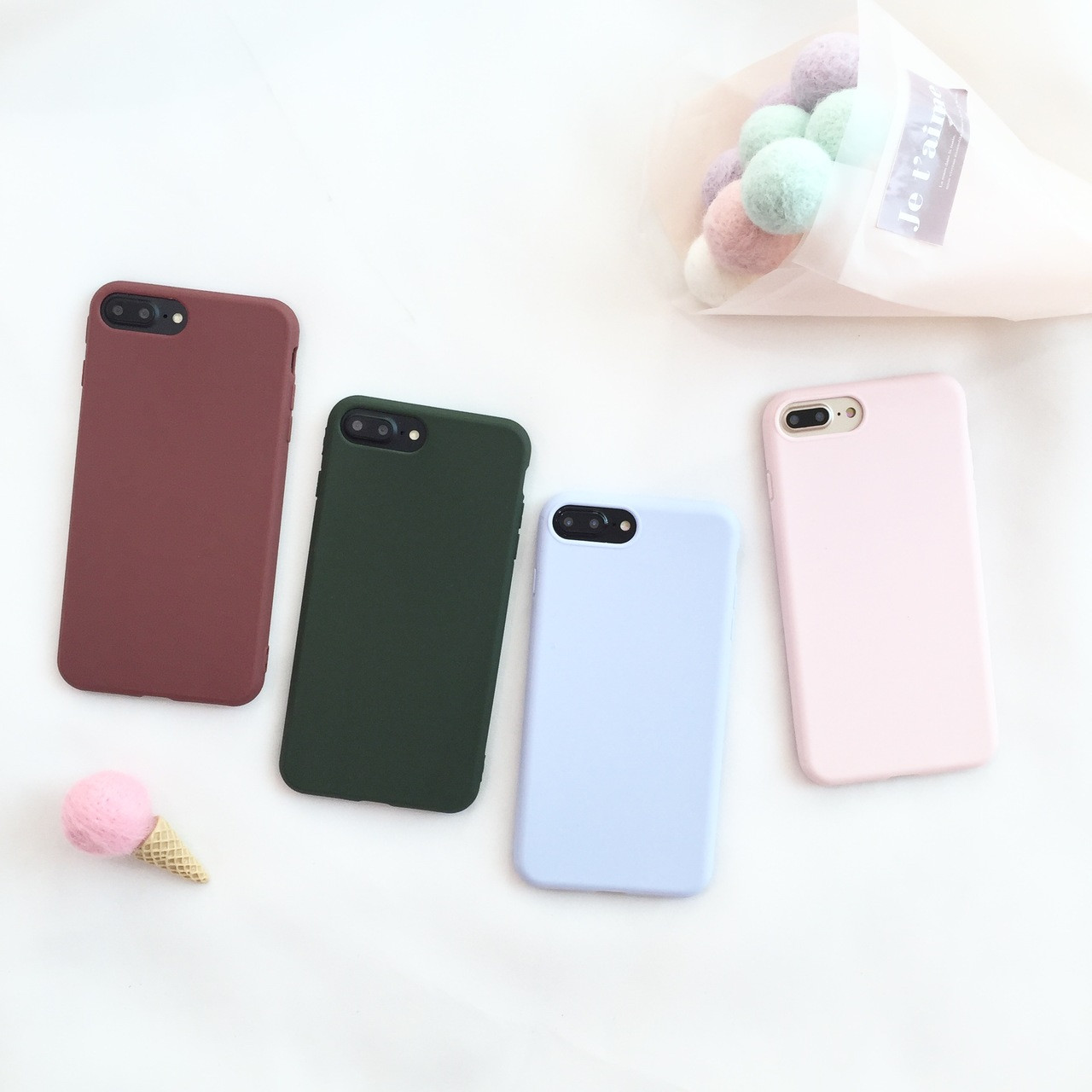 03f66b0bc80 For iPhone X /8 /7 plus Case soft for iphone 8 back phone cover Case ...