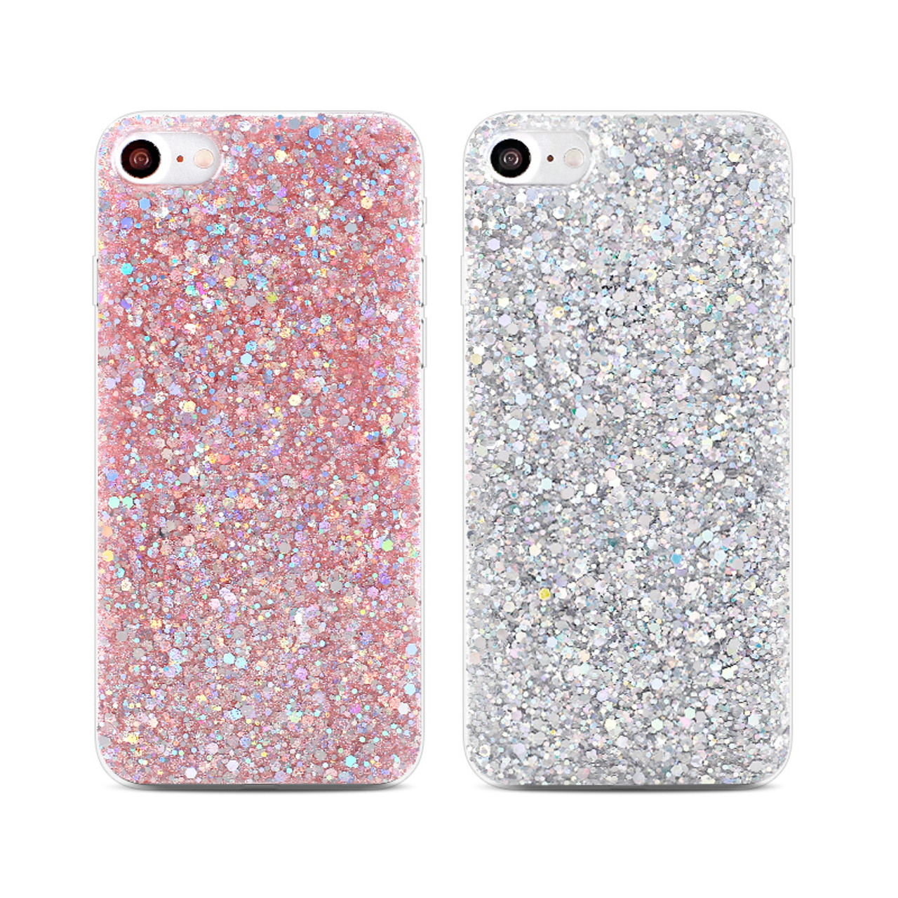 promo code 78d91 3bf18 QINUO Silicone Bling Powder Soft Case For iPhone 5 5S 7 6 Plus Shinning  Glitter Phone Cover for iPhone 8 7 6 6s Plus Cases Shell
