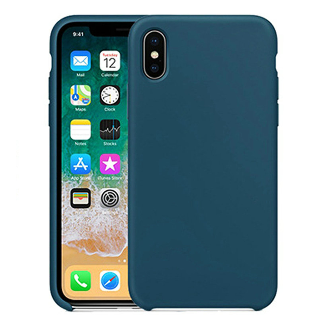 size 40 2e511 d5bf9 Original Silicone Case For iPhone 7 8 Plus Have LOGO Phone Silicon Cover  For iPhone X 6S 6 Plus 5 5s SE For Apple Retail Box