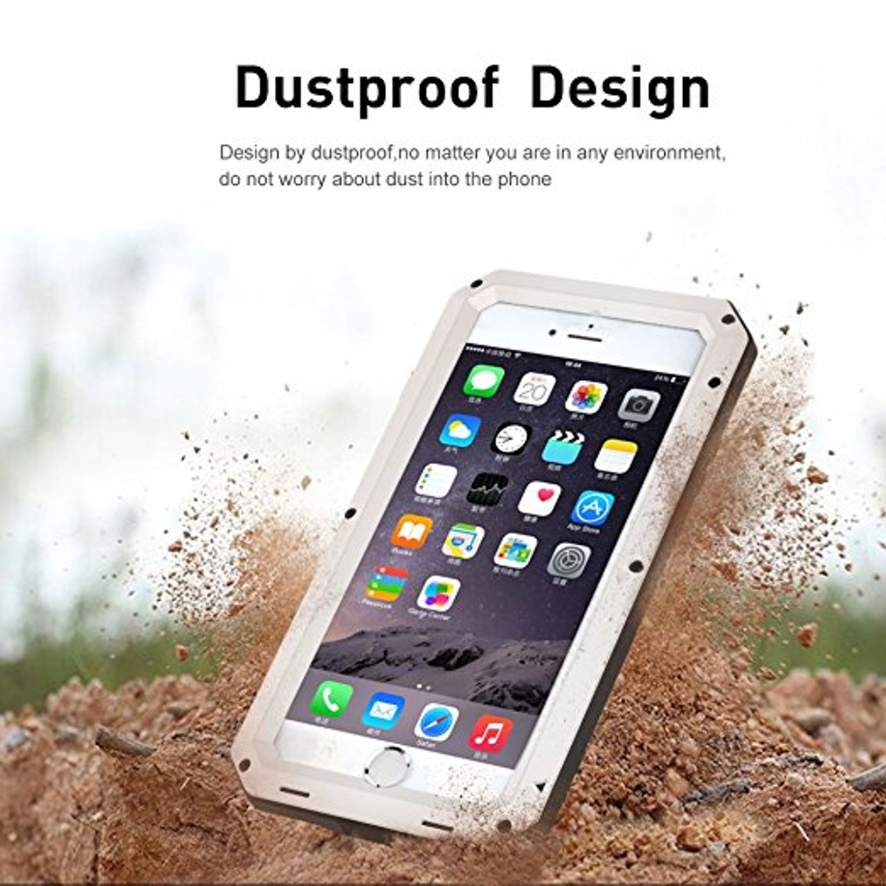 promo code 9a2ac 05eae Luxury Doom armor Dirt Shock Waterproof Metal Aluminum phone bags case For  iphone 7 5S 5 SE 4S 5C 6 6S Plus cover+Tempered glass