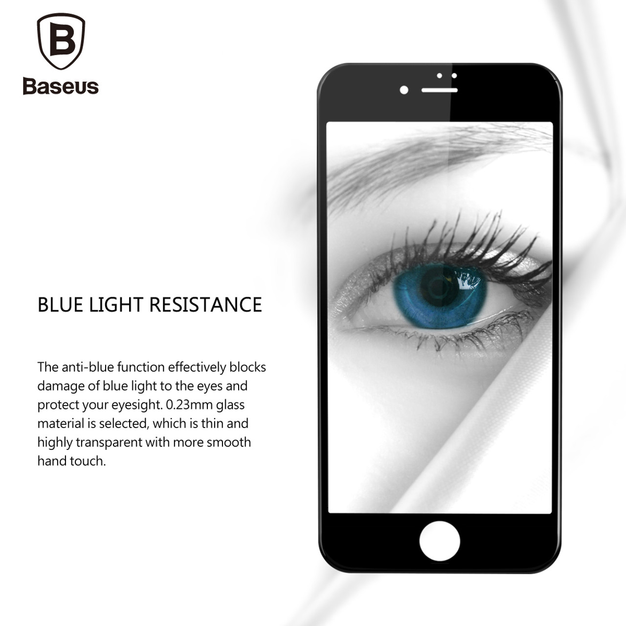 0e4426df000b65 ... Baseus 0.23MM Screen Protector Tempered Glass For iPhone 8 7 6 6s Plus  Soft 3D ...