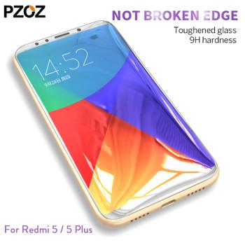 Pzoz xiaomi redmi 5 plus glass tempered full cover prime screen protector xiomi redmi 5 glass film original xaomi 5plus redmi 5