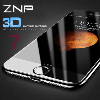 ZNP 3D Curved Soft edge Full Cover Tempered Glass For iPhone 8 7 6 Plus 6s Screen Protector For iPhone 7 6 6s Plus 8 8Plus Glass