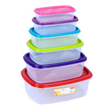 Princeware Store Fresh Food Storage Container Set 6 Pcs (Princeware-Store Fresh-5666-6)