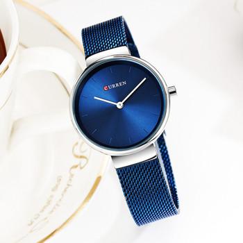 Curren Watch Luxury Women Watches Waterproof Blue Analog Quartz Dress Women Watches Steel Bracelet Ladies Watch Relogio Feminino