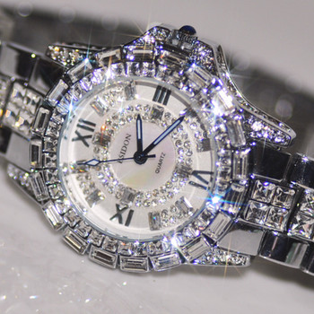 Luxury Woman Watches! Austrian Crystal Full Rhinestone watch popular Dress Watch! Fashion Diamond Wristwatches bracelet watches