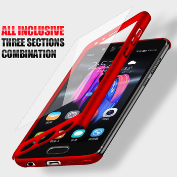 H&A 360 Degree Protective Case For Huawei Honor 9 Lite P10 Plus Cover For Huawei P10 Lite Phone Cases Full Cover Tempered Glass