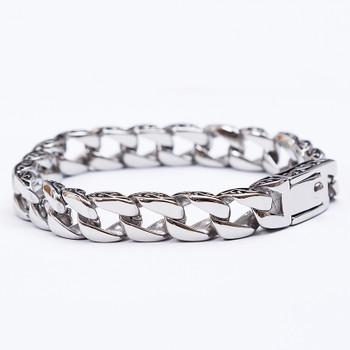 TrustyLan New Stainless Steel Men's Charm Bracelets Retro Mens Bracelets 2018 High Quality Cool Male Biker Jewelry Accessory