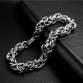 TrustyLan Steel 8MM Man Bracelet Cool Male Jewelry Accessory Casual Weaved Mens Bracelets & Bangles 2018 Pulseras Wristband Gift