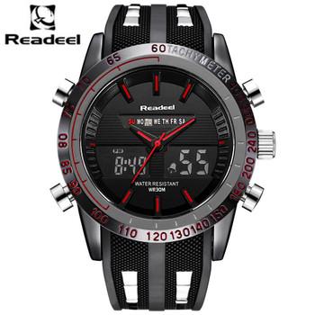 Fashion Brand Men's Sport Watch LED Quartz Army Military Watches Swim Outdoor Men Waterproof Wristwatches