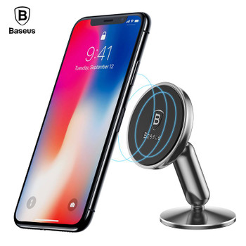 Baseus Magnetic Car Holder For iPhone X 8 7 Samsung S9 S8 Mobile Phone Holder Support GPS 360 Degree Car Phone Holder Stand