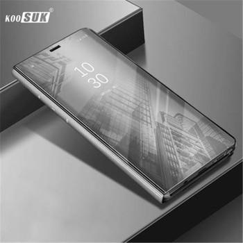For VIVO V9 Y85 Flip Case Coque KOOSUK Plating Mirror Clear Smart Awaken View Stands Phone Cover Fundas For VIVO V9 Y85 capa