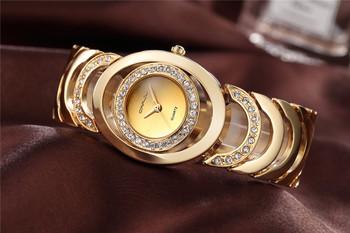 Gold Watch Women Luxury Brand bracelet Ladies Quartz-Watch Gifts For Girl Full Stainless Steel Rhinestone wristwatches whatch