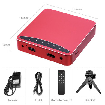 Poner Saund DLP100W Pocket HD Portable DLP Projector Micro Wireless Multi-screen Mini LED Battery HDMI USB Portable Home Cinema