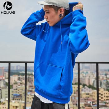 Fashion Color Hooides Men's Thick Clothes Winter Sweatshirts Men Hip Hop Streetwear Solid Fleece Hoody Man Clothing USA SIZE