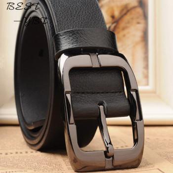 New Designer Belts Men High Quality Luxury Brand Leather Belt Pin Buckle Black Business Trouser Strap Cinturones Hombre Cinto