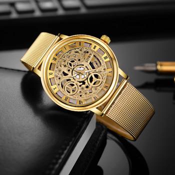 SOXY Luxury Skeleton Watches Men Watch Fashion Gold Watch Men Clock Men's Watch relogio masculino reloj hombre erkek kol saati