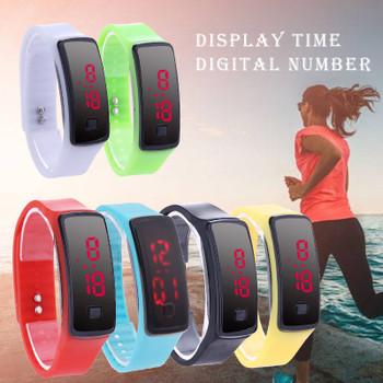 2018 Fashion LED Digital Watches Bracelet Wristwatch For Men Ladies Kids Clock Womens Digital Wrist Watch Sport Student