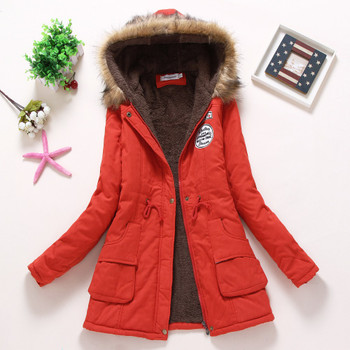 Fitaylor New Winter Padded Coats Women Cotton Wadded Jacket Medium Long Parkas Thick Warm Hooded Quilt Snow Outwear Abrigos