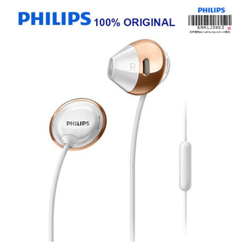 Philips SHE4205 Earphones Bass with Microphone  Wire Control In-Earphone Noise Cancelling Earphone for Galaxy 8 Official Testing