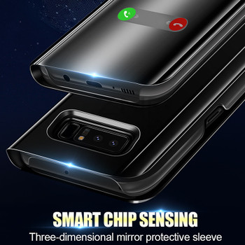 ZNP Luxury Clear View Mirror Smart Case For Samsung Galaxy S9 S8 Plus Flip Stand Cover For Samsung S7 Edge Note 8 S8 Phone Case