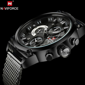 NAVIFORCE Luxury Brand Man 3ATM Waterproof Clock Men's Analog Quartz 24 Hour Date Watches Men Sport Full Steel WristWatch