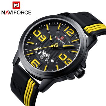 Men's Sports Watches Luxury Brand NAVIFORCE Quartz Watch Military 3ATM Waterproof Clock Male Wristwatches Relogio Masculino 9123