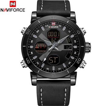 NAVIFORCE Luxury Men's LED Analog Quartz Watch Men Army Military Sport Watches Male Waterproof Date Wristwatch Relogio Masculino