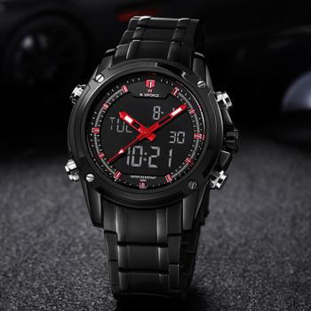 Top Men Watches Luxury Brand Naviforce Men's Quartz Hour Analog LED Sports Watch Men Army Military Wrist Watch Relogio Masculino