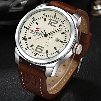 2017 Top Luxury Brand NAVIFORCE Men Military Sports Watches Men's Quartz Date Clock Man Leather Wrist Watch Relogio Masculino