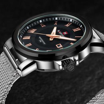 Top Luxury Brand NAVIFORCE Men Fashion Casual Business Watches Men's Quartz Clock Male stainless steel Mesh Strap Wrist Watch