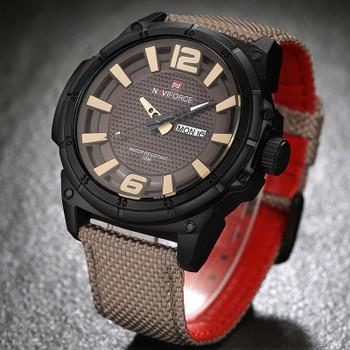 NAVIFORCE Brand Luxury Men Fashion Casual Watches Mens Quartz Date Clock Man Leather Waterproof Wrist watch Relogio Masculino