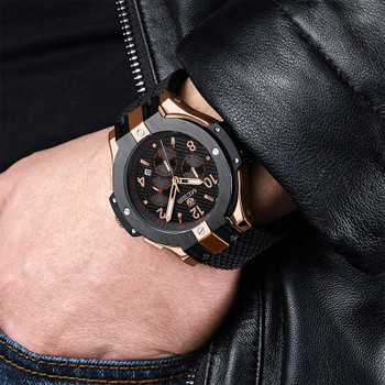 Megir Watches Men Watch Men's Wristwatches Waterproof Chronograph Male Clock Military Sport Quartz Mens Watches Top Brand Luxury