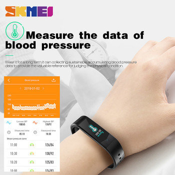 SKMEI 3D UI Smart Fitness Tracker Sport Outdoor Smartband Waterproof HeartRate Blood Pressure Bracelet Fashion Men Women Watches