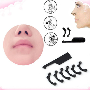 6PCS/Set 3 Sizes Beauty Nose Up Lifting Bridge Shaper Massage Tool No Pain Nose Shaping Clip Clipper Women Girl Massager