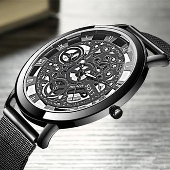 SOXY Skeleton Wrist Watch Men Watch Mens Watches Top Brand Luxury Hollow Out Men's Watch Clock Saati Relogio Masculino Relojes