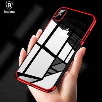 Baseus Luxury Plating Soft Silicone Case For iPhone Xs Xs Max XR Ultra Thin TPU Protective Case For iPhone Xs Xs Max 2018 Cover