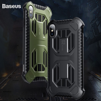 Baseus Armor Case For iPhone Xs Max Xr Xs Capinhas Anti-knock Full Protective Back Cover Cases For iPhone Xs Max Coque Fundas