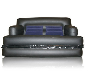 Multi functional inflatable sofa leather folding sofa bed